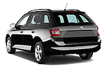Car pictures of rear three quarter view of a 2015 Skoda Fabia Ambition 5 Door Wagon Angular Rear