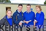 Marie Foley, Jack McCarthy, Shane Corkery and Grainne Wright who collected after receiving the Junior Cert results on Wednesday in Milltown