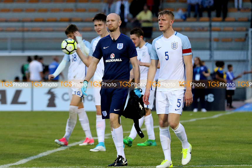 England players walk off at the end of the match after a convincing victory during England U18 vs Cuba Under-20, Toulon Tournament Football at Stade d'Honneur Marcel Roustan on 1st June 2017