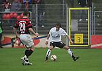 Sandhausen 19.04.2008, Am Ball Tim Bauer (SV Sandhausen) vor ihm Ralf Keidel (Ingolstadt) in der Regionalliga S&uuml;d 2007/08 SV Sandhausen 1916 - FC Ingolstadt 04<br /> <br /> Foto &copy; Rhein-Neckar-Picture *** Foto ist honorarpflichtig! *** Auf Anfrage in h&ouml;herer Qualit&auml;t/Aufl&ouml;sung. Belegexemplar erbeten.