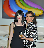 "Audrey Napolean and Keiko Noah attend Mouche Gallery Presents the Opening of Artist Clara Hallencreutz's Exhibit ""Picture Global Warming"" Photos by David Levin"