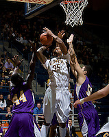 Richard Solomon of California shoots the ball during the game against SFSU at Haas Paviliion in Berkeley, California on November 6th, 2012.  California defeated San Francisco State, 89-80.