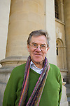 Jeremy Treglown, former editor of the TLS, outside the Clarendon Building, during the FT Weekend Oxford Literary Festival, Oxford, UK. Saturday 29 March 2014.<br /> <br /> PHOTO COPYRIGHT Graham Harrison<br /> graham@grahamharrison.com<br /> <br /> Moral rights asserted.