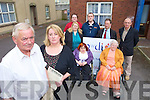 Margaret O'Shea and Noel O'Neill Foreground, Front Margaret Nolan and Joyce Ashe. Back Richard Bunn, Catherine Courtney, Mike Loughlin, Charlie Smith and Martin Connor of the Kerry Network of People with Disabilities.