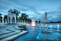 World War II Memorial Washington Monument Washington DC