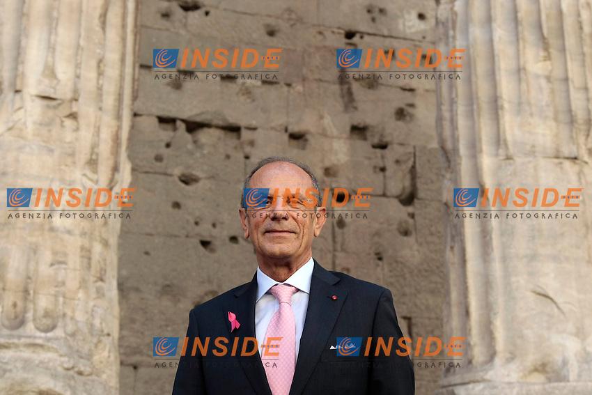 Il presidente della LILT Francesco Schittulli<br /> Roma 30-09-2014 Roma 30-09-2014 Presentazione della Campagna Nastro Rosa per la prevenzione del tumore al seno organizzata dalla LILT.<br /> Photo Samantha Zucchi Insidefoto