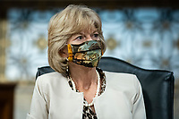 United States Senator Lisa Murkowski (Republican of Alaska), wears a protective covering during a Senate Health, Education, Labor and Pensions Committee hearing in Washington, D.C., U.S., on Tuesday, June 30, 2020. Top federal health officials are expected to discuss efforts to get back to work and school during the coronavirus pandemic. <br /> Credit: Al Drago / Pool via CNP /MediaPunch
