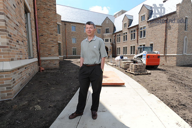 University Architect Doug Marsh outside Duncan Hall.