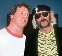 Roddy Piper Jesse Ventura 1984<br /> Photo By John Barrett/PHOTOlink.net