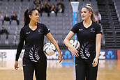 13th September 2017, Hamilton, New Zealand;  New Zealand shooters Maria Tutaia and Te Paea Selby-Rickit ahead of the Taini Jamison Trophy international netball match - Silver Ferns versus  England played at Claudelands Arena, Hamilton, New Zealand on Wednesday 13 September 2017
