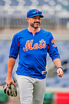 22 September 2018: New York Mets Manager Mickey Callaway walks back to the dugout after watching batting practice prior to a game against the Washington Nationals at Nationals Park in Washington, DC. The Nationals shut out the Mets 6-0 in the 3rd game of their 4-game series. Mandatory Credit: Ed Wolfstein Photo *** RAW (NEF) Image File Available ***