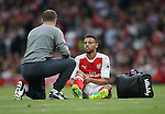 Arsenal's Frabcis Coquelin goes off injured during the Premier League match at the Emirates Stadium, London. Picture date September 24th, 2016 Pic David Klein/Sportimage