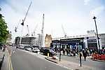 Building works continues at White Hart Lane during the English Premier League match at the White Hart Lane Stadium, London. Picture date: April 15th, 2017.Pic credit should read: Chris Dean/Sportimage