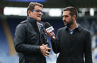 Fabio Capello is interviewed for Fox Sports before the Barclays Premier League match between Leicester City and Swansea City played at The King Power Stadium, Leicester on April 24th 2016