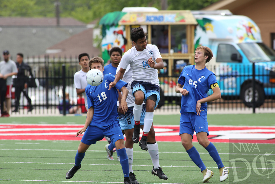 Springdale Har-Ber Wildcats beat Conway Wampus Cats  2-0 to advance in the 7A 2017 State Soccer Tournament at Mayo-Thompson Stadium at Fort Smith Northside High School. <br /> <br /> NWA Democrat-Gazette/DAVID GOTTSCHALK