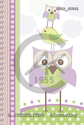 Samantha, CUTE ANIMALS, paintings,+owls,++++,AUKPJC091,#AC# illustrations, pinturas ,everyday