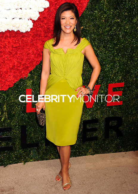 NEW YORK CITY, NY, USA - OCTOBER 16: Julie Chen arrives at the God's Love We Deliver, Golden Heart Awards held at Spring Studios on October 16, 2014 in New York City, New York, United States. (Photo by Celebrity Monitor)