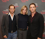 Josh Lucas, Uma Thurman and Marton Csokas  attends the Meet & Greet Photo Call for the cast of Broadways 'The Parisian Woman' at the New 42nd Street Studios on October 18, 2017 in New York City.