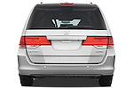 Straight rear view of a 2009 Honda Odyssey Touring