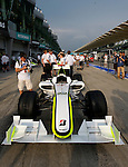 02 Apr 2009, Kuala Lumpur, Malaysia ---   Brawn GP Formula One Team car during the 2009 Fia Formula One Malasyan Grand Prix at the Sepang circuit near Kuala Lumpur. Photo by Victor Fraile --- Image by © Victor Fraile / The Power of Sport Images