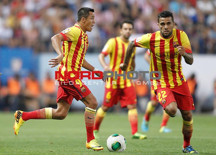 FC Barcelona's Alexis Sanchez during Supercup of Spain 1st match.August 21,2013. Foto © nph / Acero)