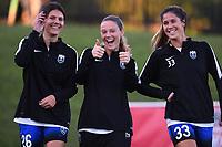 Boyds, MD - Saturday September 30, 2017: Madeline Bauer, Kristen McNabb, Katlyn Johnson during a regular season National Women's Soccer League (NWSL) match between the Washington Spirit and the Seattle Reign FC at Maureen Hendricks Field, Maryland SoccerPlex.
