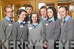 Jessica O'Connell, Siobhan Clifford, James Casey, Aoife Lenihan, Daniel Buckley, Shauna Kelly, Megan O'Mahony Students from Boherbue Comprehensive school  pictured at Ceiliu?radh nO?g at the Brandon hotel on Thursday.