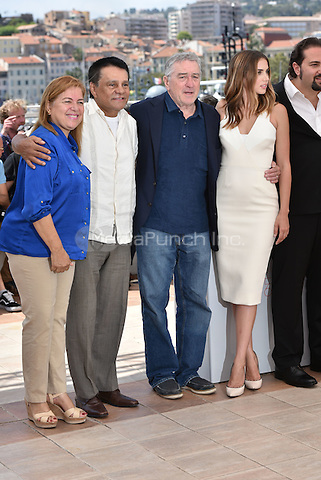 Roberto Duran, Robert De Niro, Ana de Armas<br /> 'Hands of Stone' photocall during the 69th International Cannes Film Festival, France May 16, 2016.<br /> CAP/PL<br /> &copy;Phil Loftus/Capital Pictures /MediaPunch ***NORTH AND SOUTH AMERICA ONLY***