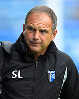 Gillingham Manager Steve Lovell during Portsmouth vs Gillingham, Sky Bet EFL League 1 Football at Fratton Park on 6th October 2018