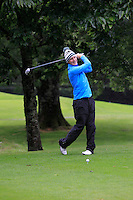 Geoff Lenehan (Portmarnock) on the 3rd tee during round 1 of The Mullingar Scratch Cup in Mullingar Golf Club on Sunday 3rd August 2014.<br /> Picture:  Thos Caffrey / www.golffile.ie