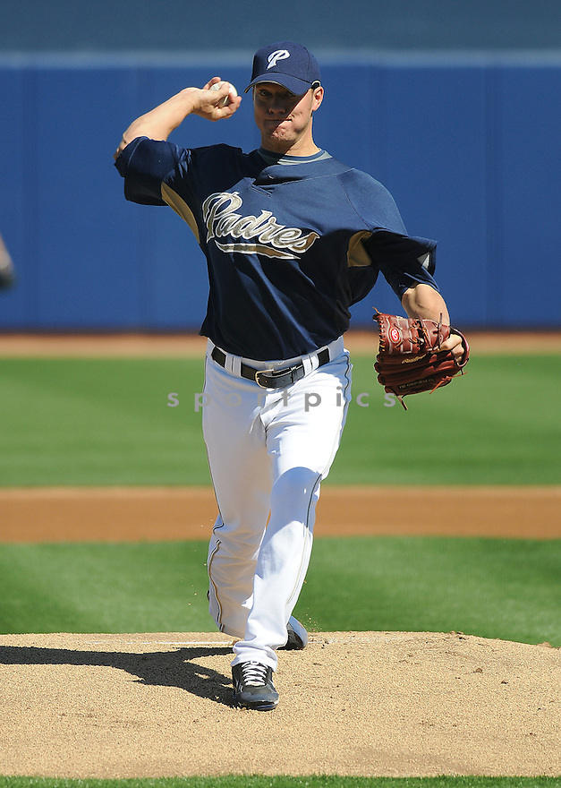 JAKE PEAVY, of the San Diego Padres in action  during the Padres  game against the Seattle Mariners  on February 25, 2009 in Surprise, Arizona  The Padres beat the Mariners 4-3...