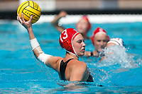 Stanford, CA - March 23, 2019: Madison Berggren during the Stanford vs. Harvard women's water polo game at Avery Aquatic Center Saturday.<br /> <br /> The Cardinal won 20-7.