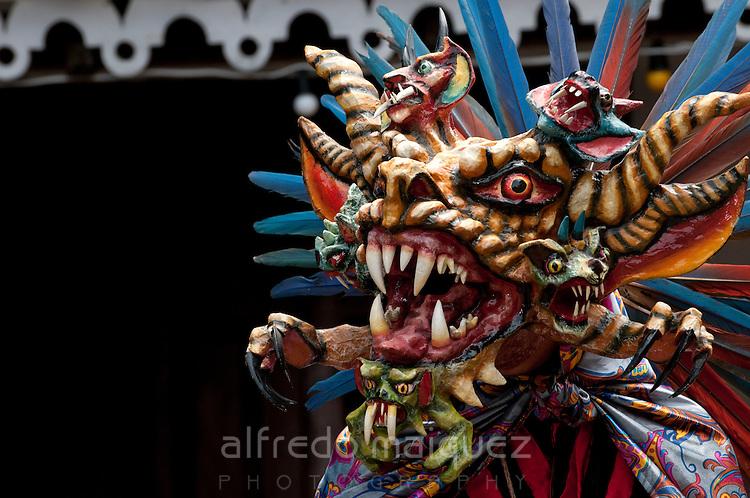 Mask, Dirty Devil's dance, Panama City, Panama, Central America