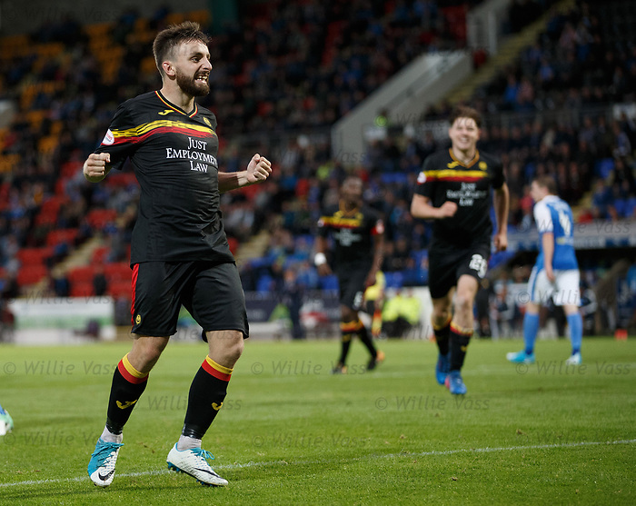 Steven Lawless celebrates his penalty goal