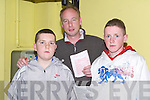 GREYHOUNDS: Donie Mackessy,Thomas Ward and Graham O'Leary (Tralee) having a good night at the dog, at the Kingdom Greyhound Stadium, Tralee on Saturday night.   Copyright Kerry's Eye 2008