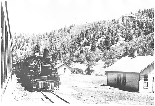 Front view of K-28 #471 at Navajo.<br /> D&amp;RGW  Navajo, NM  Taken by Schnepf, Ted - 3/1931