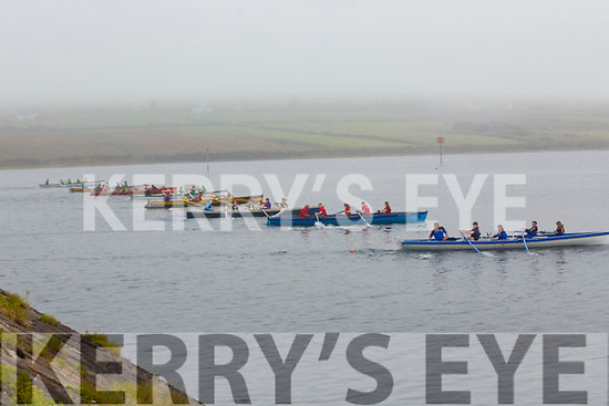 Action from the start of the U12's race at the Portmagee Regatta on Sunday with eight boats taking to the water.