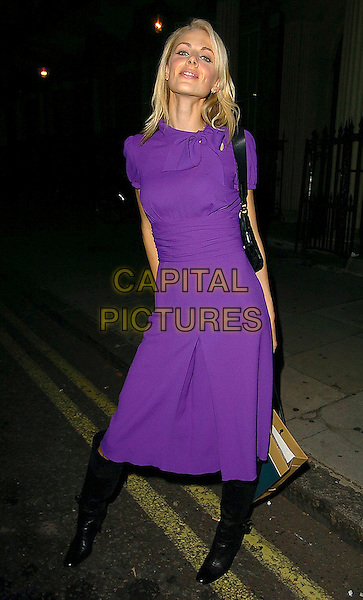 DONNA AIR.Tahitian Pearl Trophy Awards 2005, Home house, W1, London..October 6th, 2005.full length black boots purple dress .www.capitalpictures.com.sales@capitalpictures.com.©Capital Pictures