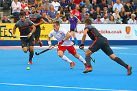 Englands Ian Sloan in midfield action during the Hockey World League Semi-Final match between England and Netherlands at the Olympic Park, London, England on 24 June 2017. Photo by Steve McCarthy.