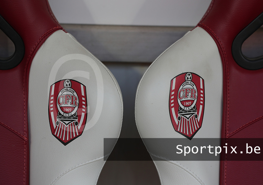 20191008 CLUJ NAPOCA: CFR logo is pictured before the match between Belgium Women's National Team and Romania Women's National Team as part of EURO 2021 Qualifiers on 8th of October 2019 at CFR Stadium, Cluj Napoca, Romania. PHOTO SPORTPIX | SEVIL OKTEM