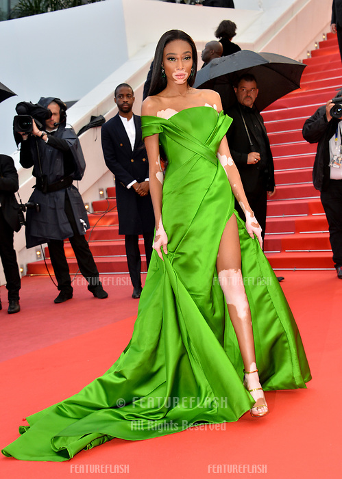 Winnie Harlow at the gala screening for &quot;BLACKKKLANSMAN&quot; at the 71st Festival de Cannes, Cannes, France 14 May 2018<br /> Picture: Paul Smith/Featureflash/SilverHub 0208 004 5359 sales@silverhubmedia.com