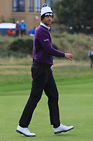 Victor Perez (FRA) on the 17th green during Round 4 of the Alfred Dunhill Links Championship 2019 at St. Andrews Golf CLub, Fife, Scotland. 29/09/2019.<br /> Picture Thos Caffrey / Golffile.ie<br /> <br /> All photo usage must carry mandatory copyright credit (© Golffile | Thos Caffrey)