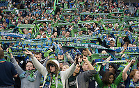 Seattle Sounders Fans during a 3-0 Seattle Sounders victory over the New Your Red Bulls, Thursday, March 19, 2009.