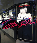 MAC Cosmetics unveils the Marilyn Monroe Holiday 2012 Collection..The 30 piece collection consists of sultry eye shadows in sparkling shades of champagne and gray, blush and powder with names such as ?Legendary? and ?Forever Marilyn,? jet black eye liner to make that perfect cat eye, mascara and false eyelashes to create those luscious lashes, and last but not least 4 different shades of red lipstick to create that sexy pout that has made her a beauty icon for 50 years since her death at the young age of 36.  11/03/2012 in New York.