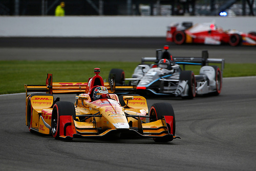 12-14 May, 2016, Indianapolis, Indiana USA<br /> Ryan Hunter-Reay leads Helio Castroneves<br /> ©2016, Phillip Abbott<br /> LAT Photo USA