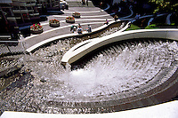 "Water Fountain at ""Waterfront Centre"", Vancouver, British Columbia, Canada"