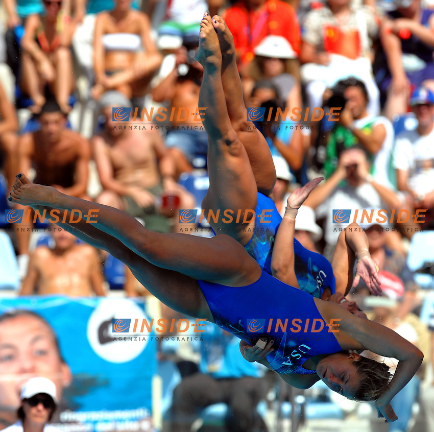 Roma 24th July 2009 - 13th Fina World Championships From 17th to 2nd August 2009.Diving Synchronized Springboard 3m.Kelci BRYANT Ariel RITTENHOUSE (USA).photo: Roma2009.com/InsideFoto/SeaSee.com .Foto Andrea Staccioli Insidefoto