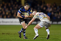 Henry Thomas of Bath Rugby in possession. Aviva Premiership match, between Bath Rugby and Exeter Chiefs on March 23, 2018 at the Recreation Ground in Bath, England. Photo by: Patrick Khachfe / Onside Images