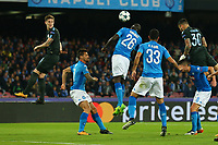 Gol di Nicolas Otamendi Manchester City goal celebration <br /> Napoli 01-11-2017 Stadio San Paolo<br /> Football Calcio UEFA Champions League 2017/2018<br /> Napoli - Manchester City<br /> Group F<br /> Foto Cesare Purini / Insidefoto