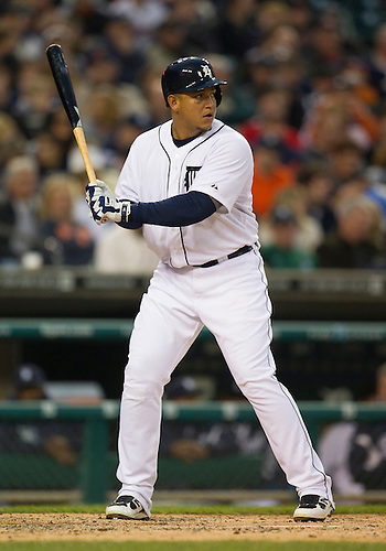 May 01, 2012:  Detroit Tigers third baseman Miguel Cabrera (24) at bat during MLB game action between the Kansas City Royals and the Detroit Tigers at Comerica Park in Detroit, Michigan.  The Tigers defeated the Royals 9-3.